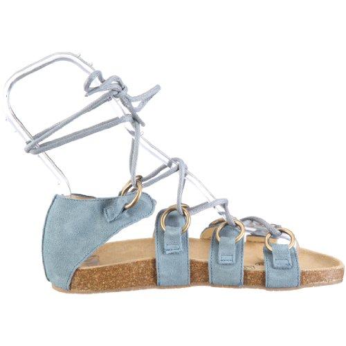 Jonny's Rosario 0970 - Sandalias de vestir de ante para mujer Azul (Blau/TAUBEN BLAU)