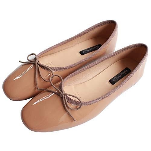 FLYRCX Los Zapatos Planos de la Parte Inferior Suave de la Boca Baja del Terciopelo de satén Zapatos de Ballet Ocasionales y cómodos Calzan los Zapatos de Trabajo de Las Mujeres Embarazadas Zapatos E