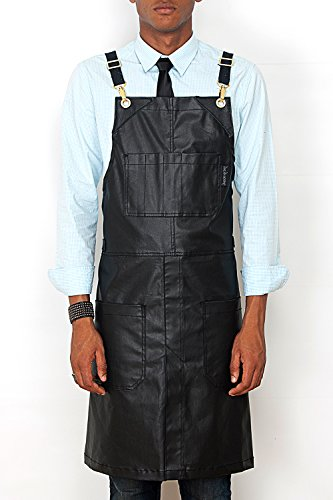 under-ny-sky-cross-back-apron-coated-black-denim-gold-metal-split-leg-black-leather