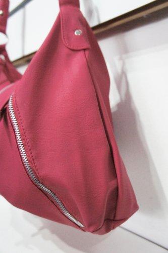 Nicole rosso/rosa Zip Dettaglio Borsa A Tracolla da donna borsetta
