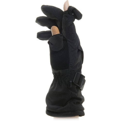 (Freehands Men's Soft Shell Ski/Snowboard Gloves Medium Black)