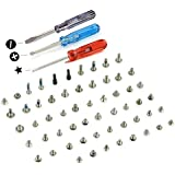 MMOBIEL Complete Full Screw Set Kit Replacement for iPhone 5C with each 2 x Bottom Pentalobe Screws(White/Black/Gold) incl. 3 x screwdrivers