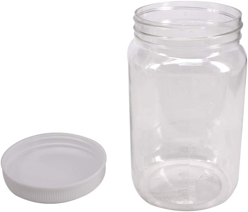 Amazon Com 12 Pack 16 Oz Clear Plastic Mason Jars With Seal Lids Extra Labels 1 Pen Pet Plastic Jars With Lids For Kitchen Home Craft By Zmybcpack Home Improvement