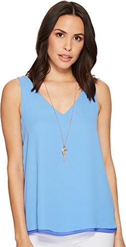 Lilly Pulitzer Women's Reversible florin Sleeveless V-Neck Bennet Blue Large
