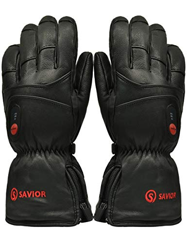 Savior Heated Gloves with RecSavior Heated Gloves Warm Gloves for CyclingSkiing, Works up to 2.5-6 hours (XXL)