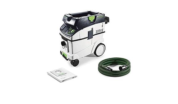 Festool CTM 36 E Cleantec-Aspirador 574988, Negro y verde: Amazon ...