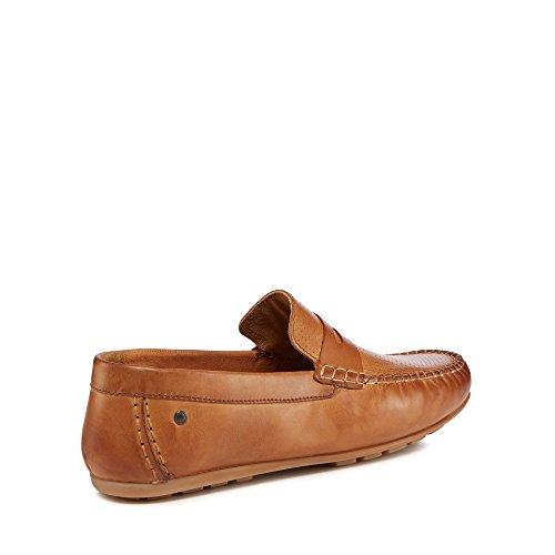 Base London Men Tan Leather 'Attwood' Loafers HkdmPF7F