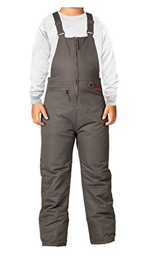 Arctix Insulated Youth Snow Bib Overalls, Charcoal Gray, Large (Snow Pants Clearance compare prices)