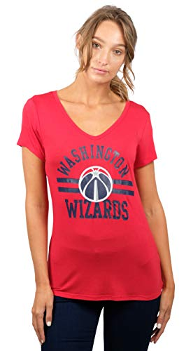 UNK NBA Women's T V-Neck Relaxed Short Sleeve Tee Shirt, Team Color, Small