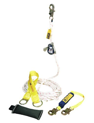 Dbi Sala Lad Saf 5000400 Mobile Rope Grab Kit  Rope Grab  3 Foot Shock Absorbing Lanyard  50 Foot Rope Lifeline  Counterweight  Tie Off Adaptor  And Carrying Bag By Capital Safety