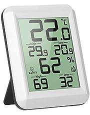 Digital LCD thermometer hygrometer Elektronische temperatuur-vochtigheidsmeter MIN/MAX MIN/MAX Records Thermometer Digital Records Indoor Weerstation