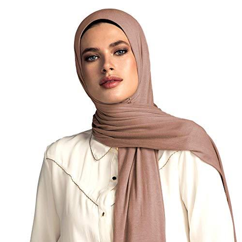 Jersey Silk Wrap - Voile Chic Dark Taupe Premium Jersey Head Scarf Wrap