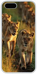 iPhone 4 4S Cases Hard Shell White Cover Skin Cases, iPhone 4 4S Case Lion King Of Beasts 02