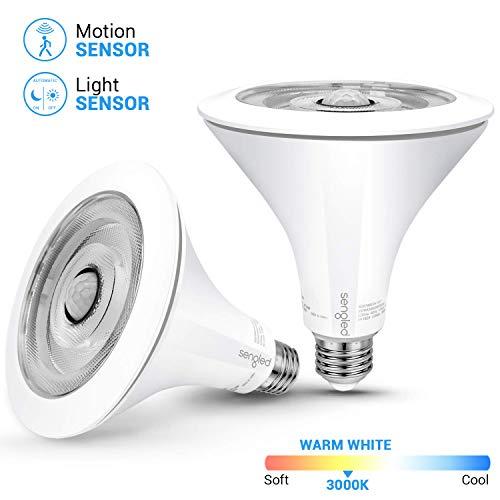 Sengled Smartsense LED Flood Light with Motion Sensor & Daylight Sensor, Motion Activated Bulb PAR38, Dusk to Dawn Bulb, Waterproof 3000K Warm White for Indoor and Outdoor use (3rd Gen), 2 Pack (Best Rated Motion Sensor Flood Lights)