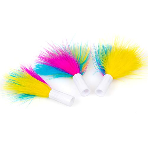 PetFusion Ambush Interactive Cat Toy Replacement Feathers, 3-Pack