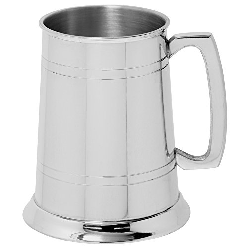 Large Tankard - English Pewter Company 1 Pint Straight 2 Line Pewter Beer Mug Tankard [EP001]
