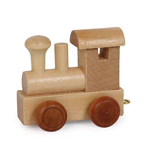 Buchstabenzug | Wunschname zusammenstellen | Holzeisenbahn | EbyReo® Namenszug aus Holz | personalisierbar | auch als Geschenk Set ( Lokomotive