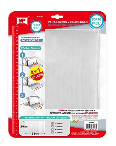MP - Pack de 5 Forros para Libros (28 X 53 CM): Amazon.es ...