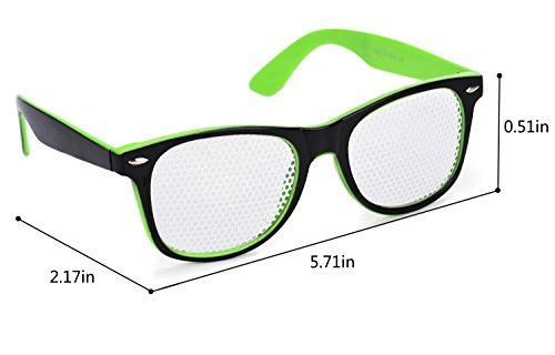 de Corrección and Light de Green Gafas Protección Visual Ocular La Pair Black de Gafas Vista de 1 Gafas Cuidado Fansport 7UqTP00