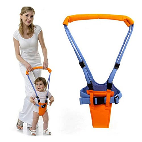 Adjustable Baby Walker Toddler Walking Assistant Harness Hand-Held Sling-Type Belt Learning Helper Breathable Infant Leashe Walking Belt for for 8-24 Month Unisex Children