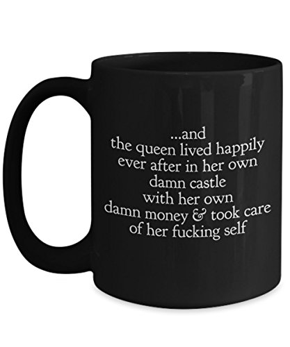 Funny Divorced -Lorena -Queen Lived Happily Ever After -Black Novelty Coffee Mug Gift Top Birthday Gifts For Single Moms, Unique Gift For Her, Divorce Cup Gifts for Women Just Divorced, Break Up Gifts