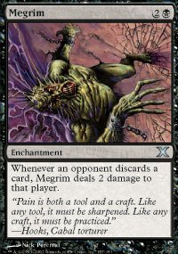 Magic: the Gathering - Megrim (157/383) - Tenth Edition