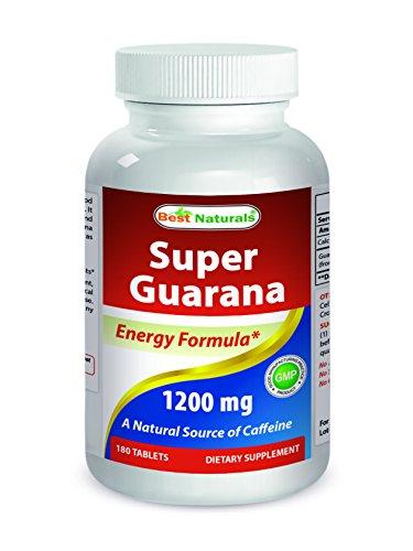 Guarana Liquid Extract - Best Naturals Super Guarana 1200 mg 180 capsules