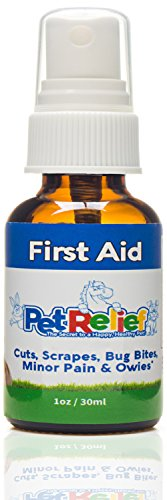 Dog First Aid Spray, Safe & Natural Wound Care For Dogs,! 30ml Dog First Aid Kit Supplies, Better Than Meds Or Antibiotic Ointment, No Side Effects! Made In USA By Pet Relief