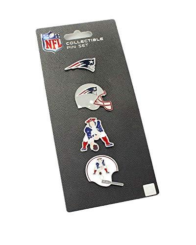 (NFL New England Patriots Logo Evolution 4 Pin Set )