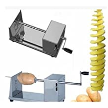 EWIN(R) 1PCS Stainless Steel Potato Slicer Cutter Carrot Spiral Cutting Machine Vegetable Manual Tools