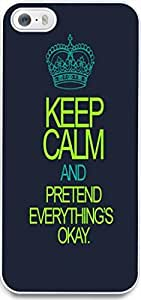 Dseason Iphone 5S case Case New Slim Hard Unique Design Christian Quotes keep calm and pretend everything's okay