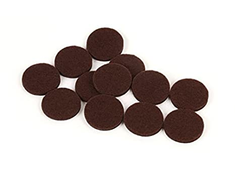 Slipstick CB018 Premium 1-1/2 Inch Furniture Pads with Extra Strength Self Stick Adhesive (12 Round Felt Floor Protectors) Protects All Hard Surfaces, 1-1/2', Chocolate