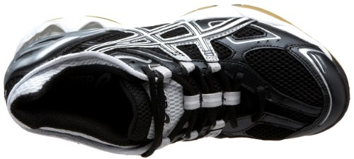 asics women's b150n gel-volleycross 3 - white/black/silver