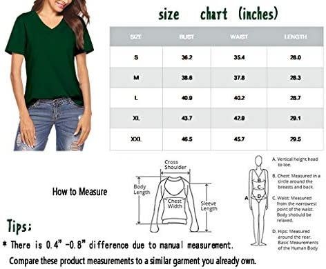 Inspop Women's Short Sleeve V-Neck Cotton Shirts Basic Tee T-Shirt Tunic Tops for Daily Wear Yoga Athletic Sleepwear