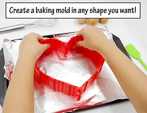 Nonstick Silicone Cake Mold Cake Pan Magic Bake Snake DIY Baking Mould Tools (4 Qty.)