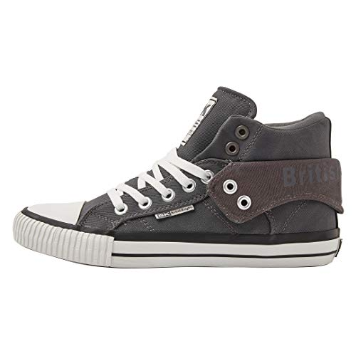 British 09 Dk Roco Homme Hautes Grey Gris Knights Baskets 8rqYw8