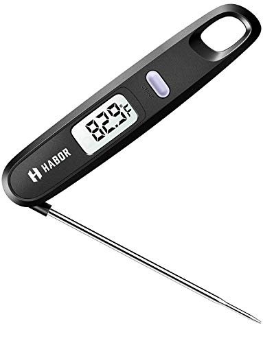 Habor 050 Magnetic Meat Thermometer (BPA Free), Convenient Folding Digital Thermometer FDA Approval Instant Read Sensor for Food Baking Liquid Meat BBQ Grill Smokers Yoghourt Temperature