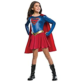 - 41M4cGXCE4L - Dc Comic Supergirl Outfit Movie Theme Child Fancy Dress Halloween Costume