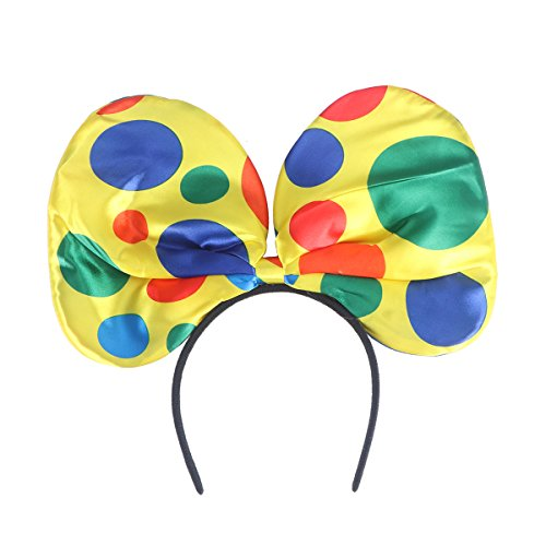 OULII Clown Costume,Headband Hair Hoop Carnival Headpiece Bow Tie Headband Circus Headdress Large Ear Headbands for Cosplay Masquerade One (Carnival Bow)