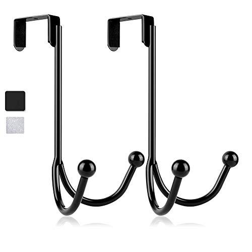 Over-The-Door Double Hanger Hooks,HFHOME Metal Twin