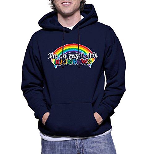 Mens Shit Rainbow Hoodie Sweatshirt