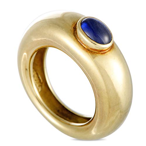 Chaumet (Est.) Chaumet 18K Yellow Gold and Sapphire Cabochon Band Ring ()