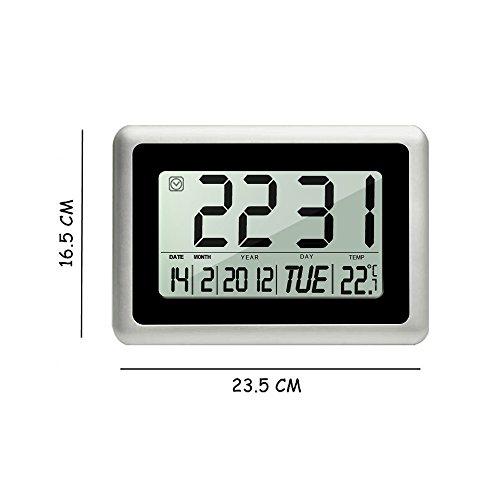 Digital Alarm Clock Heqiao Decorative Large Lcd Wall
