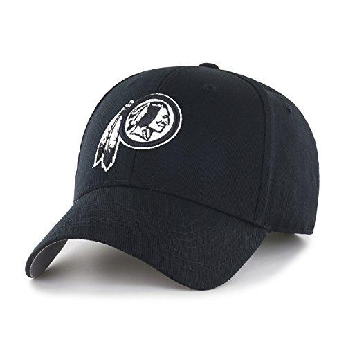 NFL Washington Redskins OTS All-Star Adjustable Hat, Black & White, One (Washington Redskins Cap)