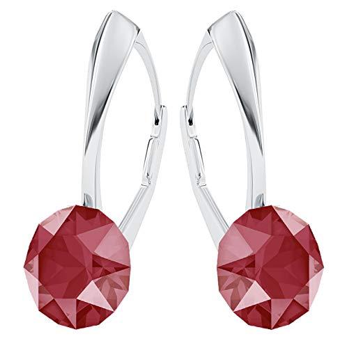 Colori 925 amp; Red Orecchini Argento xirius Stones Con Per Originale Crystals Donna Pin Cristallo molti Elements® 75 Royal Gioielli Swarovski Custodia FRqxwYInxd