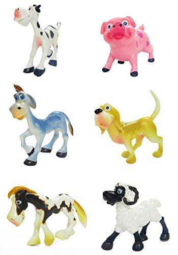 mal Figure Toys / Cute Farm Animal Model Cow Pig Donkey Dog Horse Sheep (Farm Model)