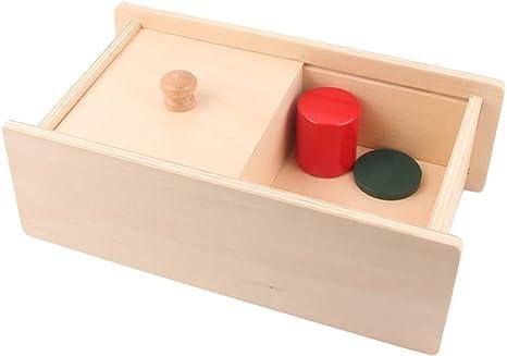 Wumudidi Madera sólido geométrico Color Forma Juego de Las Parejas, Montessori Materiales del Objeto Juguetes de Desarrollo Permanencia Box Primeros,Slidingbox: Amazon.es: Deportes y aire libre