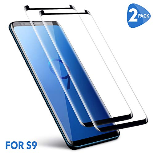 Samsung Galaxy S9 Screen Protector, CBoner [2 Pack] [No Bubbles] [9H Hardness] [Scratchproof] [Table Friendly] Tempered Glass Screen Protector Compatible with Samsung Galaxy S9