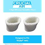 2 Vicks WF2 Humidifier Filters, Fits Vicks V3500N, V3100, V3900 Series, V3700, Sunbeam 1118 Series & Honeywell HCM-350 Series, Compare to Model # WF2, Designed & Engineered by Crucial Air