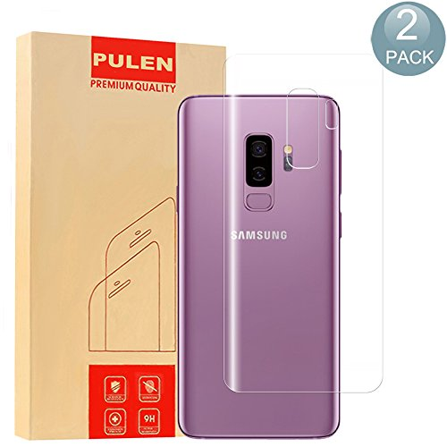 [2 Pack] Samsung Galaxy S9 Plus Screen Protector, PULEN [Not Glass] [Anti-Bubble ][Scratch Resistant] [Easy-Install] Full Coverage TPU HD Clear Back Film for Samsung Galaxy S9 Plus